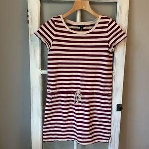 Gap striped sweatshirt dress